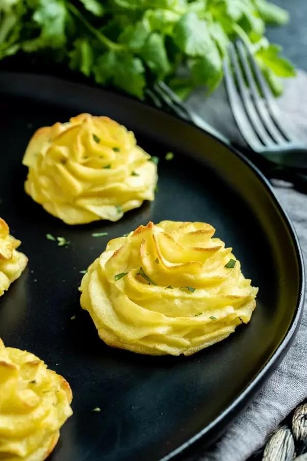 Duchess Potatoes make and ahead holiday side dish
