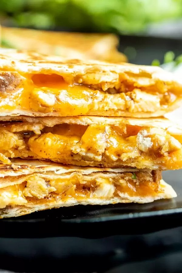 Chicken Quesadillas made with cheese and chicken