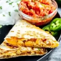 5 minute Chicken Quesadillas