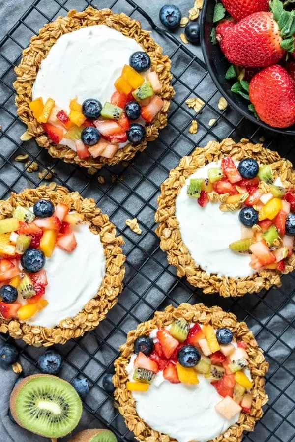 Granola Fruit Tart are easy party make ahead dessert