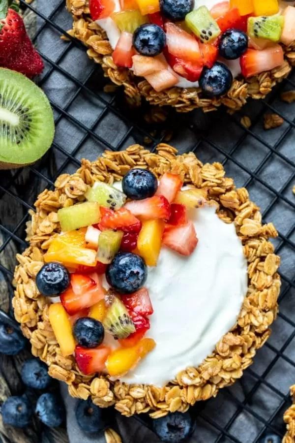 Granola Fruit Tart great healthy dessert for kids