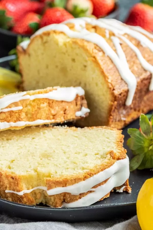 slices of Lemon Pound Cake