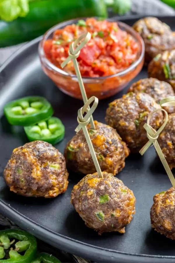 Mexican Meatballs easy keto potluck recipe