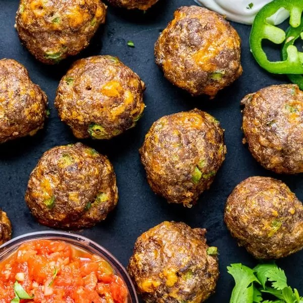 Mexican Meatballs are easy low carb party appetizers