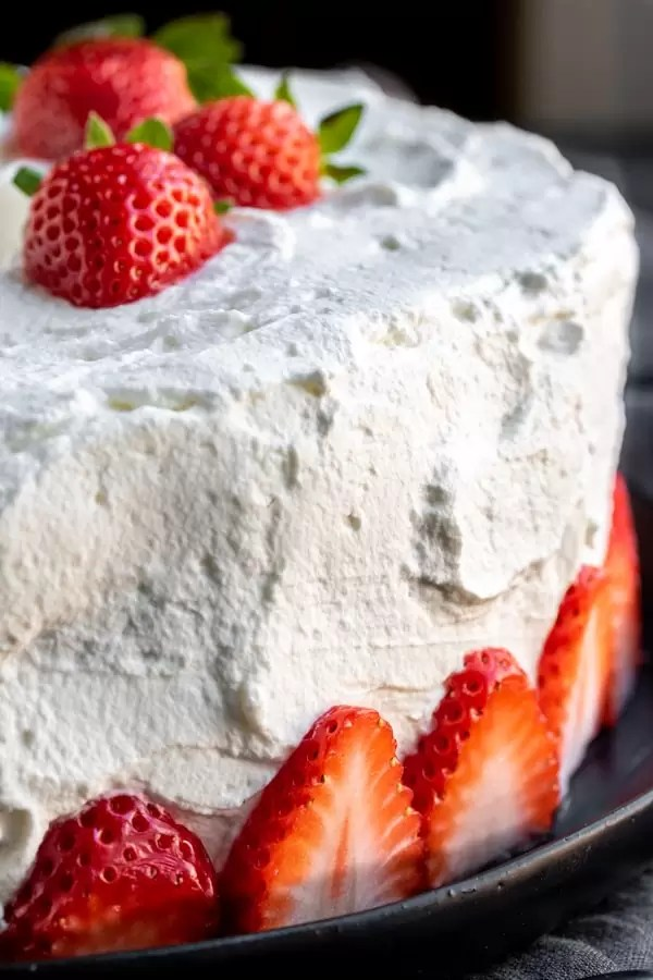 Strawberry Angel Food Cake is a light and easy summer dessert