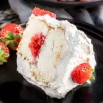Strawberry Angel Food Cake is the perfect healthy summer dessert