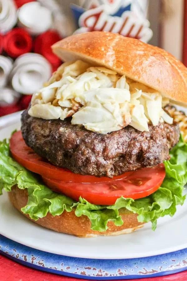 Chesapeake Crab Burger is the perfect Memorial day recipe