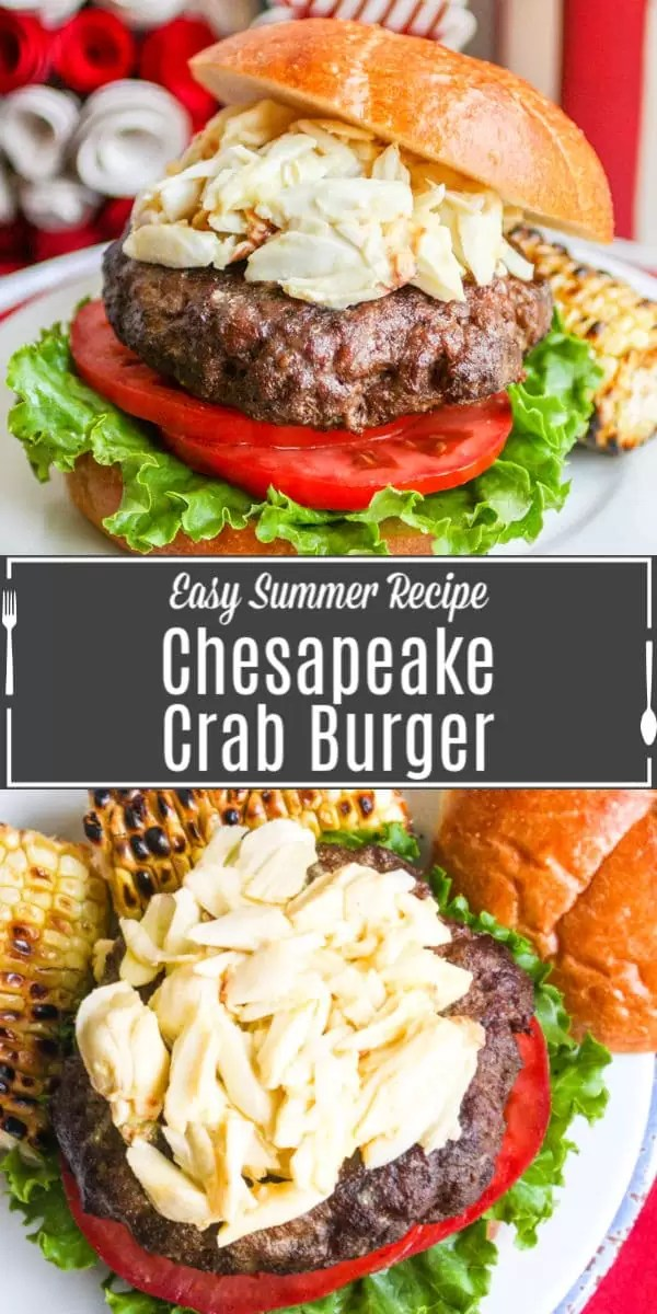 Chesapeake Crab Burger Pinterest image