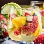 Summer Moscato Sangria perfect summer adult drink