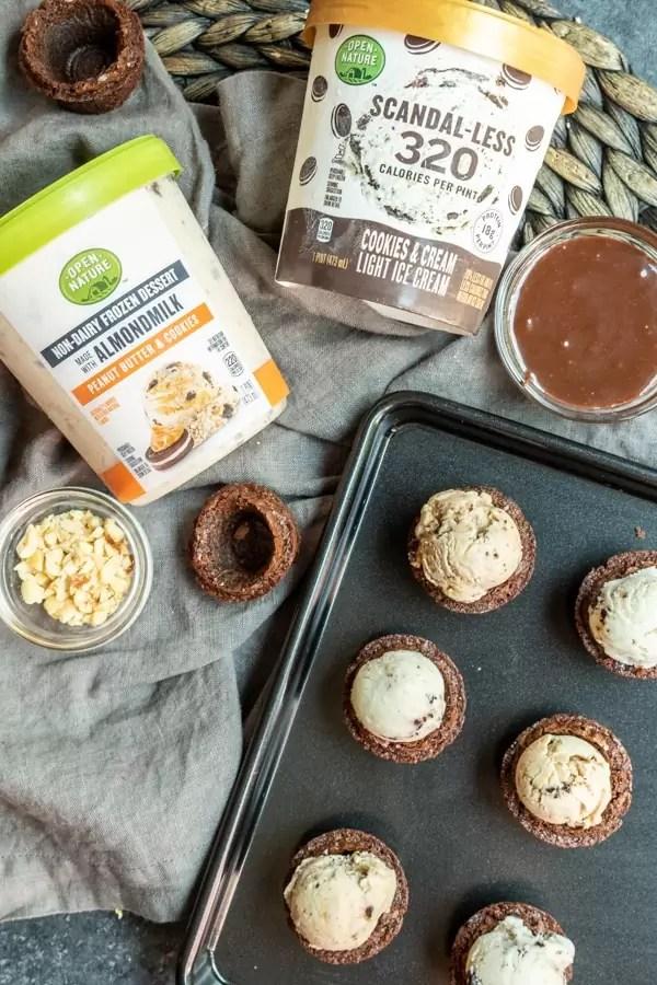 Ice Cream Brownie Bites is a guilt free dessert