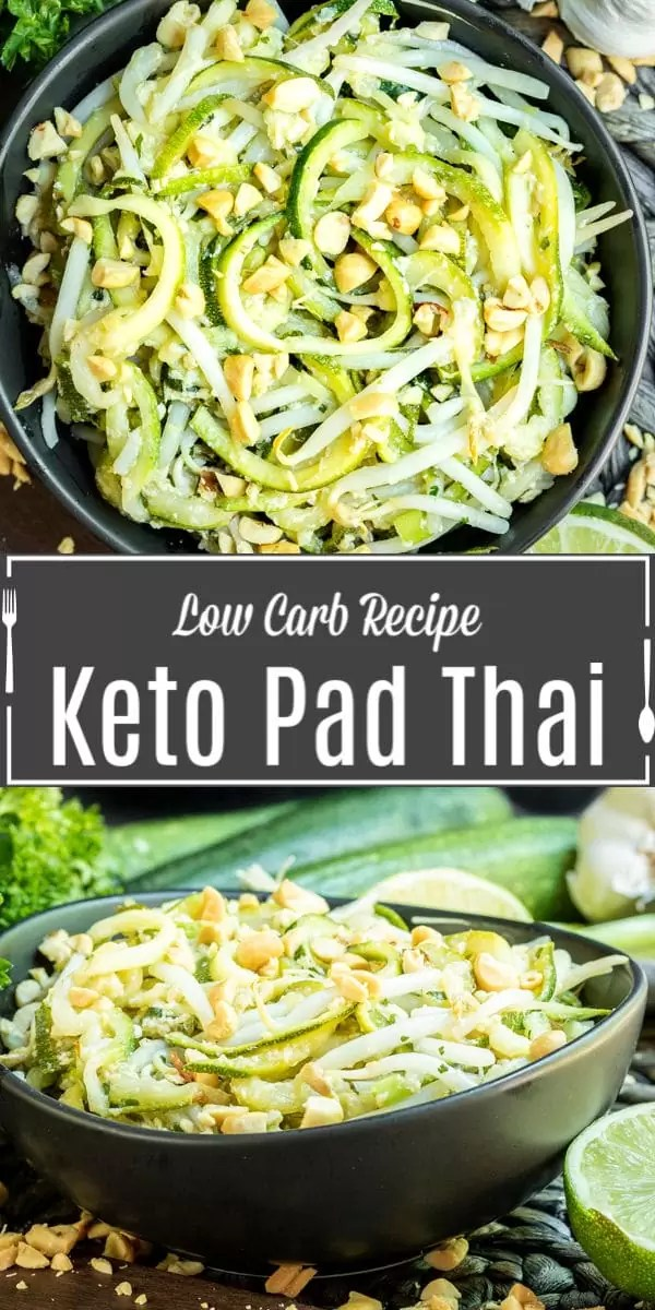 Pinterest image for Keto Pad Thai with title text