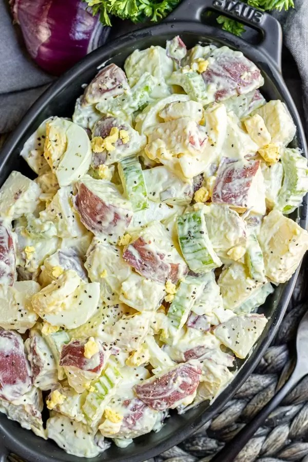 Mustard Potato Salad is an old fashioned recipe