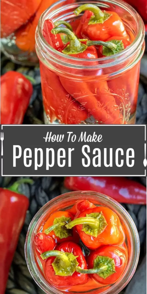 Pinterest image for Hot Pepper Sauce with title text