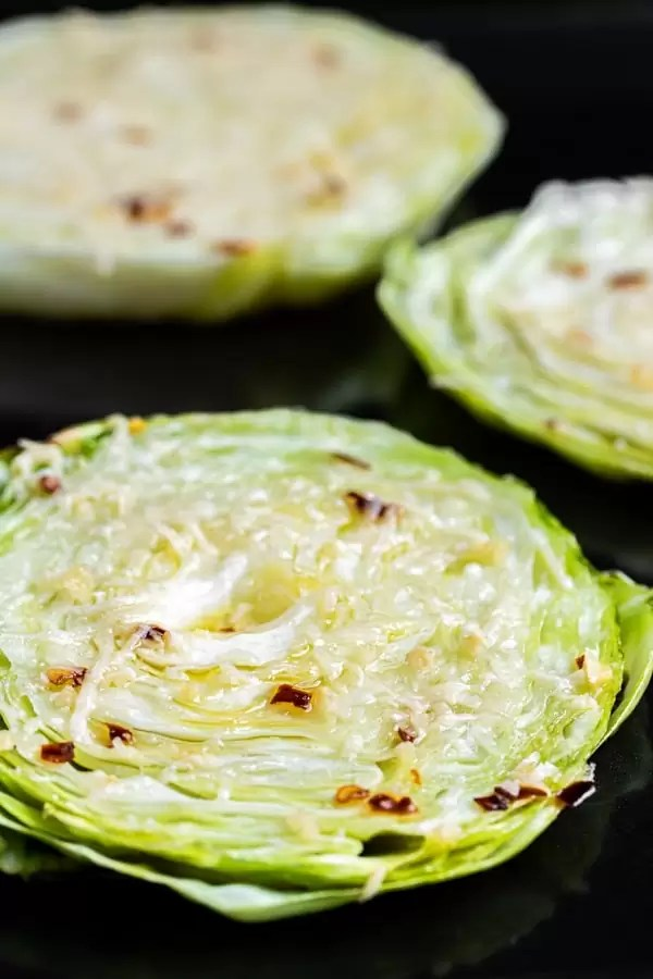 Roasted Cabbage is a easy keto and low carb side dish recipe