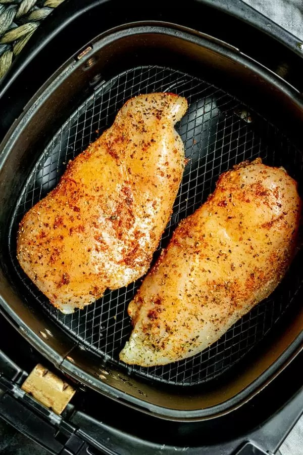 Air Fryer Chicken Breast made with raw chicken breast