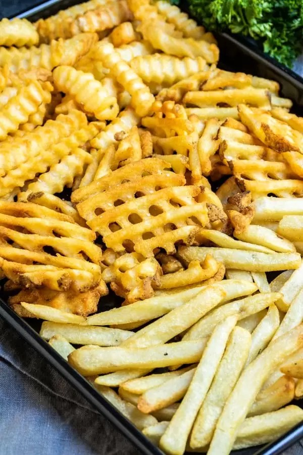 Air Fryer Frozen French Fries are an easy side with no grease clean up