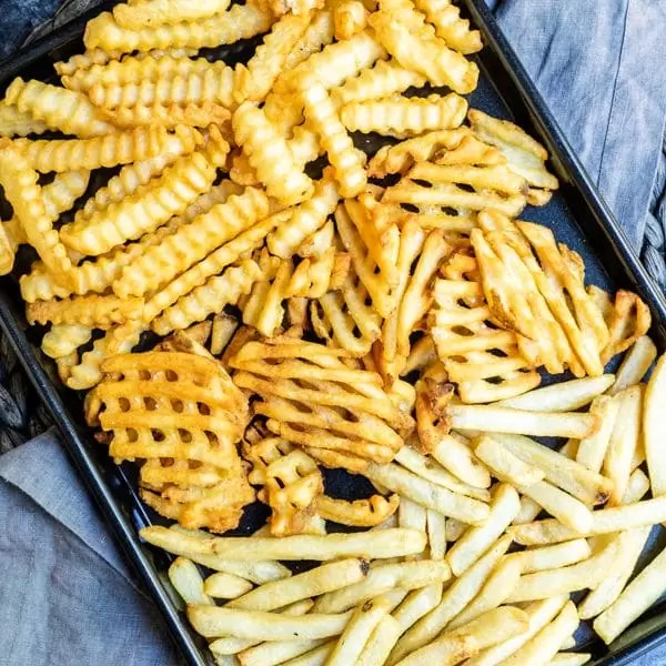 instructions on how to make Air Fryer Frozen French Fries