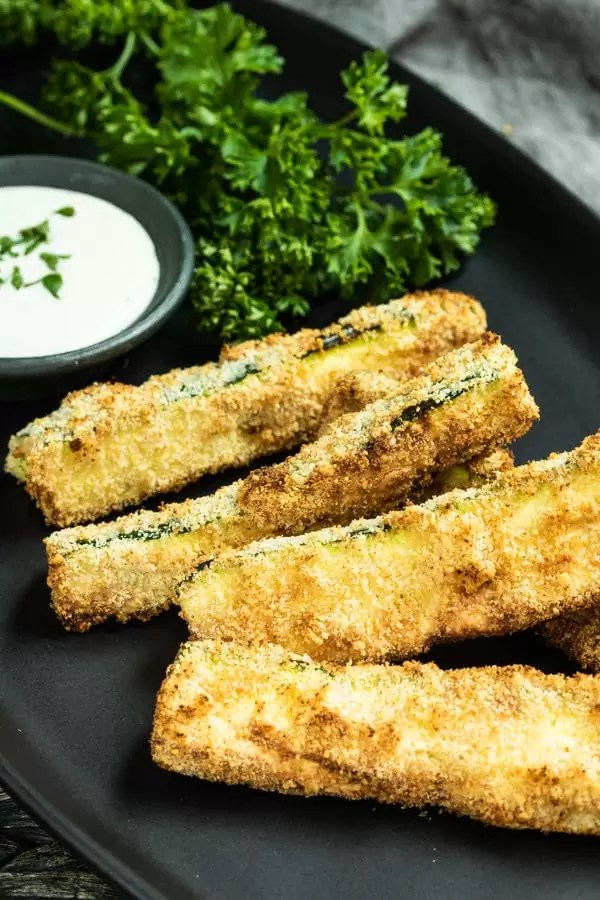 Air Fryer Zucchini is a low carb air fryer recipe