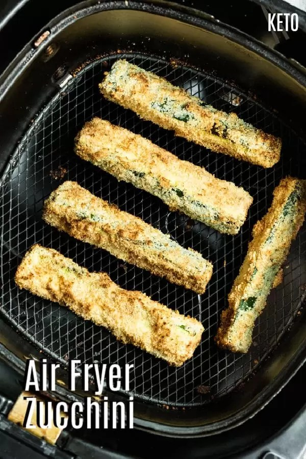 Pinterest image for Air Fryer Zucchini with title text