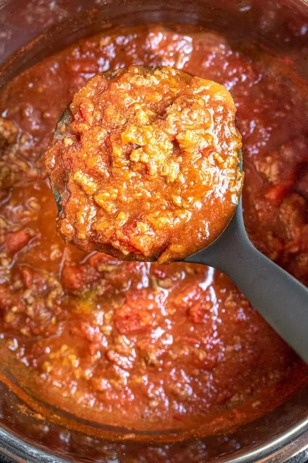 how to make Instant Pot Spaghetti Sauce