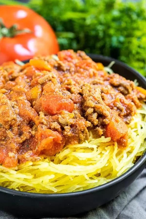 Instant Pot Spaghetti Squash to make keto spaghetti