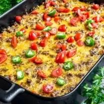 platter of Keto Taco Casserole