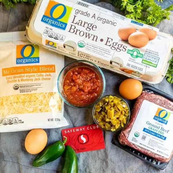 Safeway products for Keto Taco Casserole