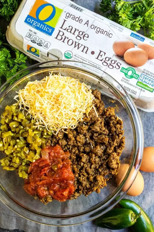 ingredients to make Keto Taco Casserole