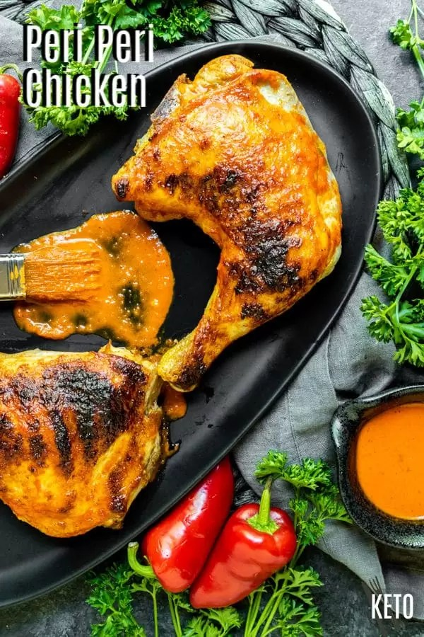 Pinterest image for Peri Peri Chicken with title text
