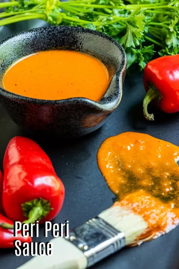 Pinterest image for Peri Peri Sauce with title text