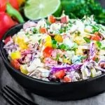 bowl of Spicy Jalapeno Coleslaw
