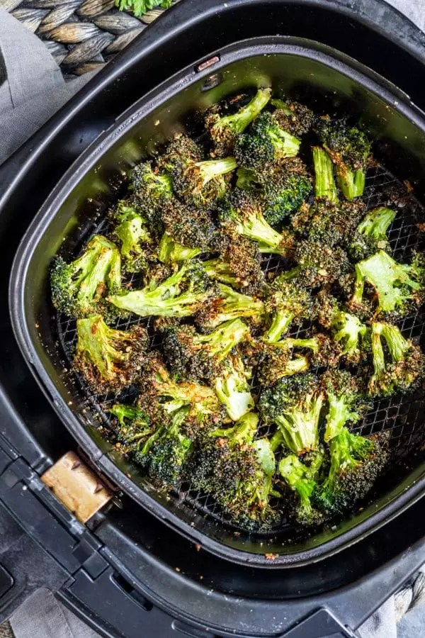 Air Fryer Broccoli easy healthy side recipe