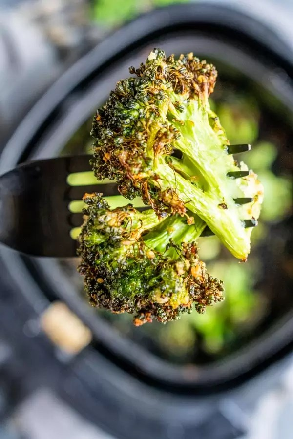 crispy Air Fryer Broccoli is an easy keto side recipe