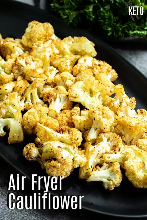 Pinterest image for Air Fryer Cauliflower with title text