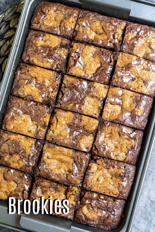 Pinterest image for Brookies with title text