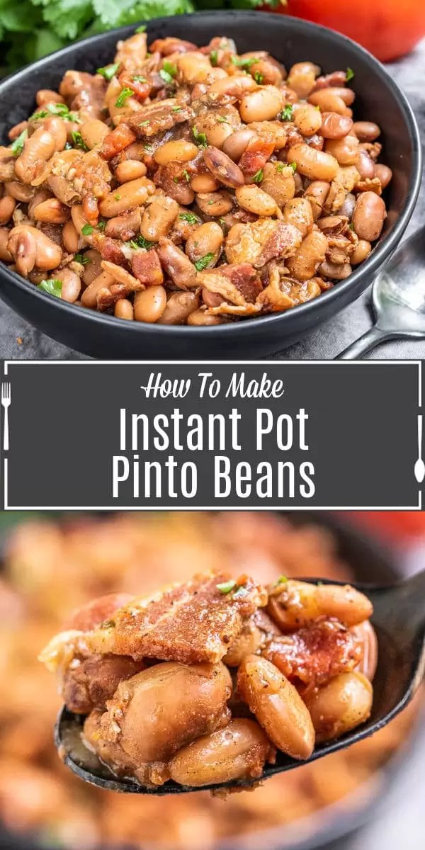 Pinterest image of Instant Pot Pinto Beans with title text