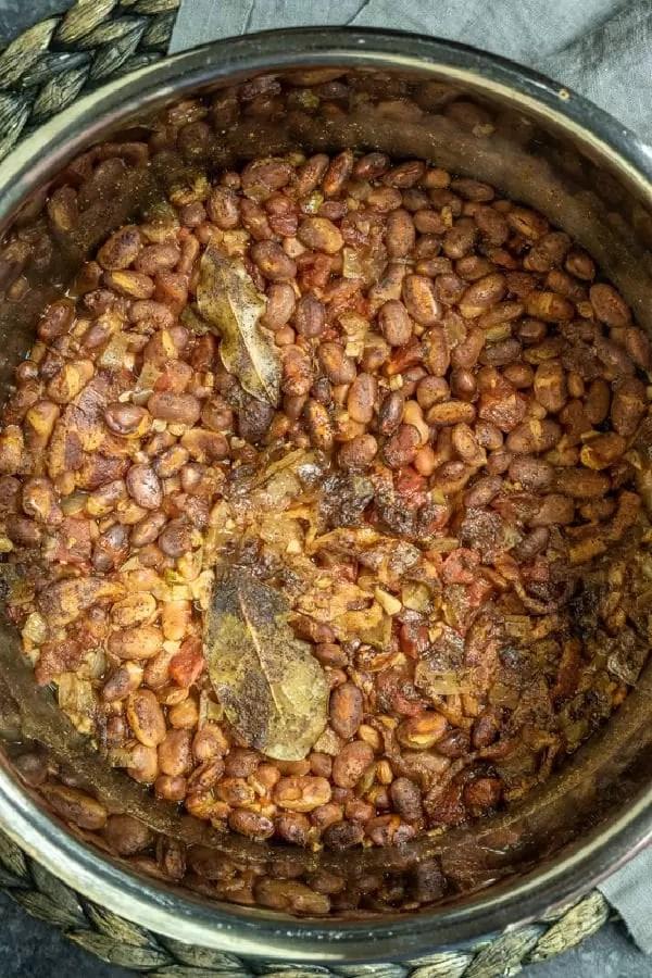Instant Pot Pinto Beans inside instant pot