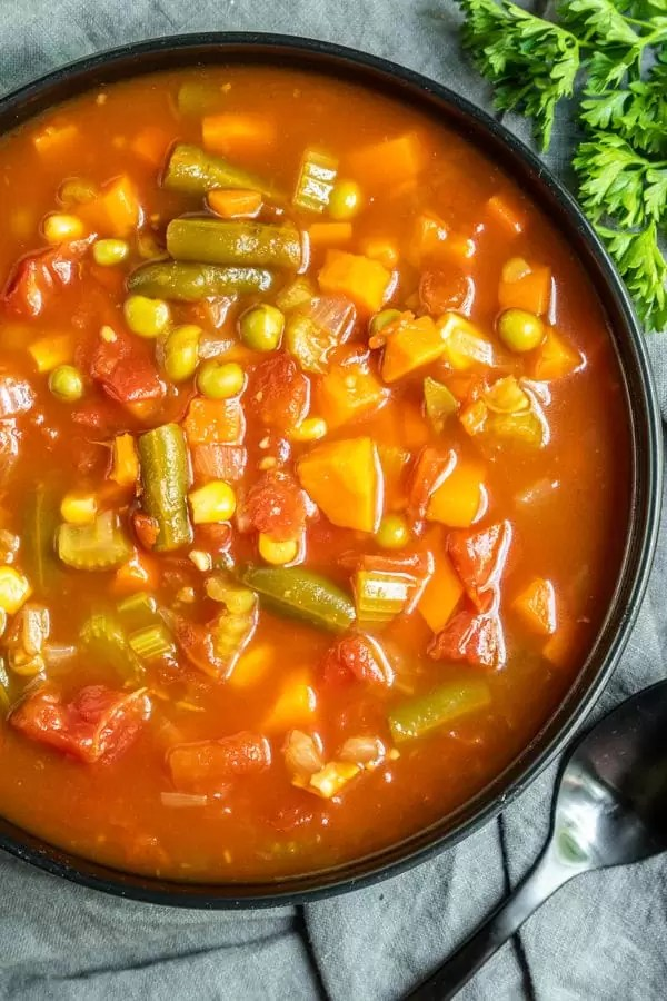 Instant Pot Vegetable Soup perfect Winter soup recipe made in a pressure cooker