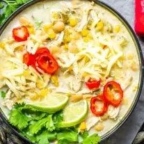 Instant Pot White Chicken Chili is an easy chicken chili recipe to serve a crowd