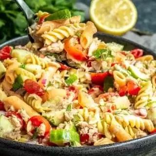 tossing Tuna Pasta Salad