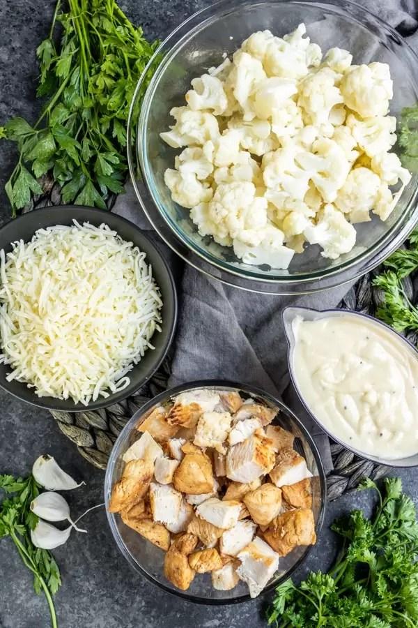 Keto Chicken Alfredo Casserole ingredients