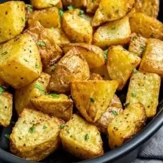 Crispy Air Fryer Potatoes on a bowl
