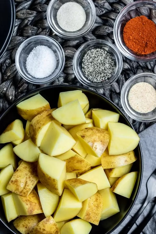 ingredients for Crispy Air Fryer Potatoes