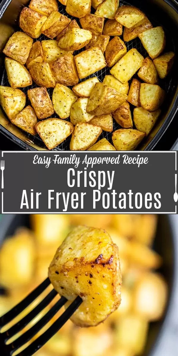 Pinterest image for Crispy Air Fryer Potatoes with title text