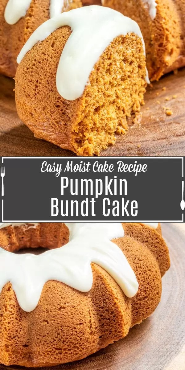 Pinterest image for Pumpkin Bundt Cake with title text