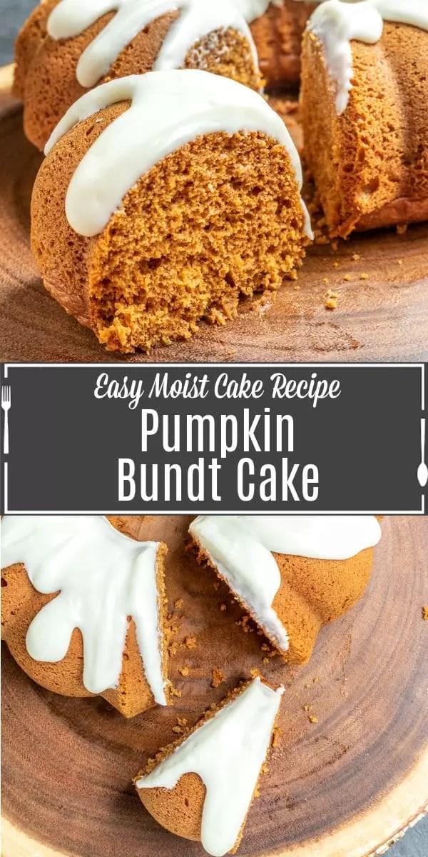 Pinterest image for Pumpkin Bundt Cake with title text