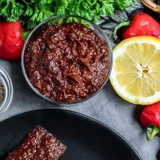 Harissa Paste in a cup