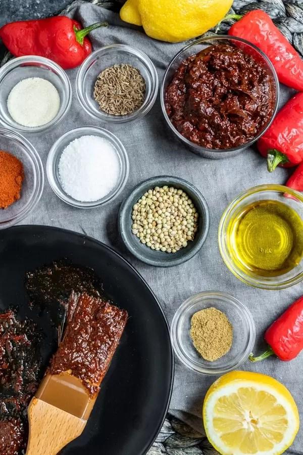 ingredienti per fare la pasta Harissa