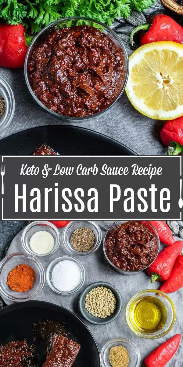 Pinterest image for Harissa Paste with title text