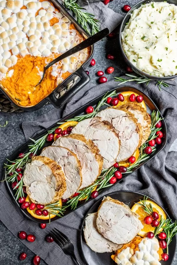 Thanksgiving dinner with Instant Pot Turkey Breast